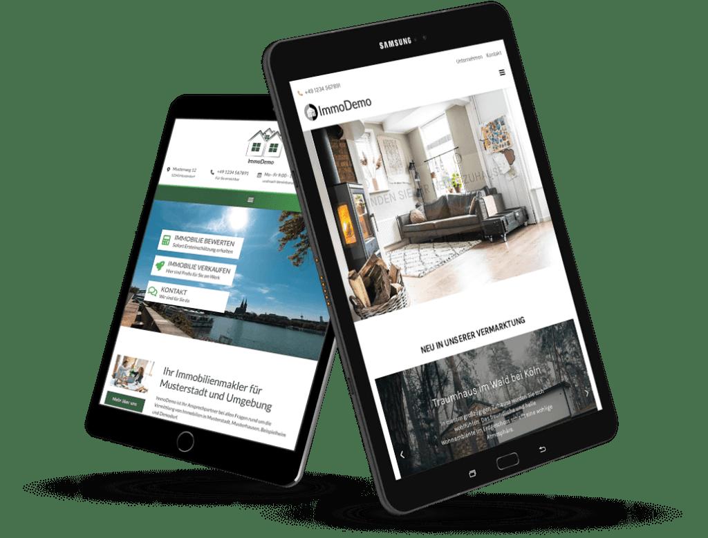 Immobilien Website Flowfact